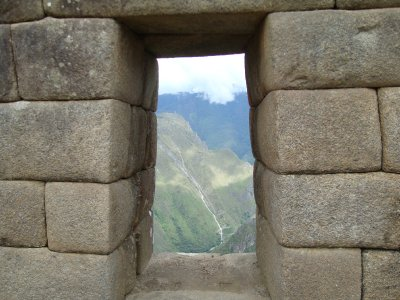 Window in Machu Picchu