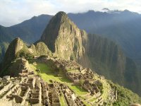 Machu Picchu, as the sun is rising
