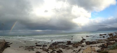 Rainbow at Muizenberg, taken by Mack Prioleau