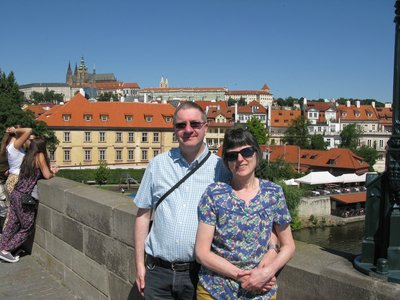 Parents on Charles Bridge