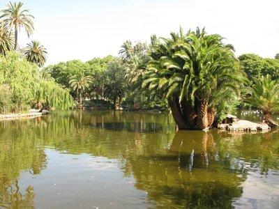 Lake at the Parc de la Ciutadella