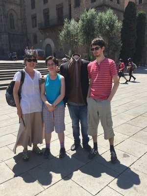 When in Barcelona...get your picture taken with a headless man