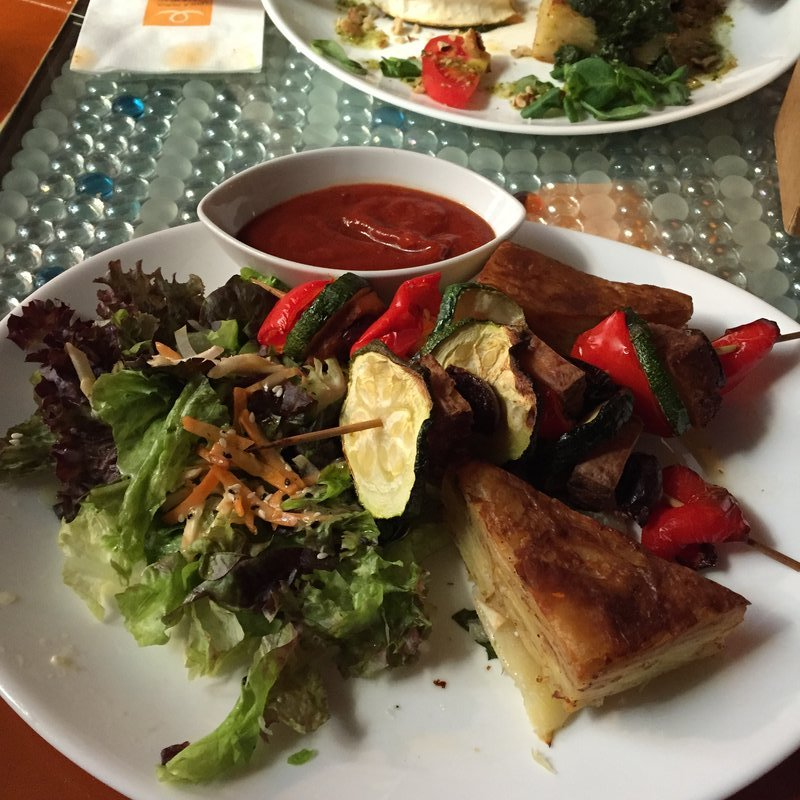 Tofu & Veg Skewers with Potato at Clear Head