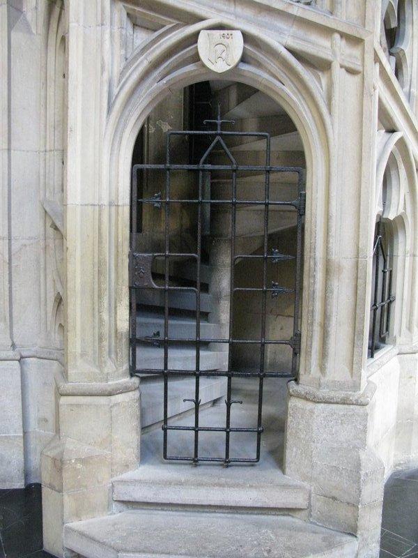Gated steps inside St Vitus Cathedral