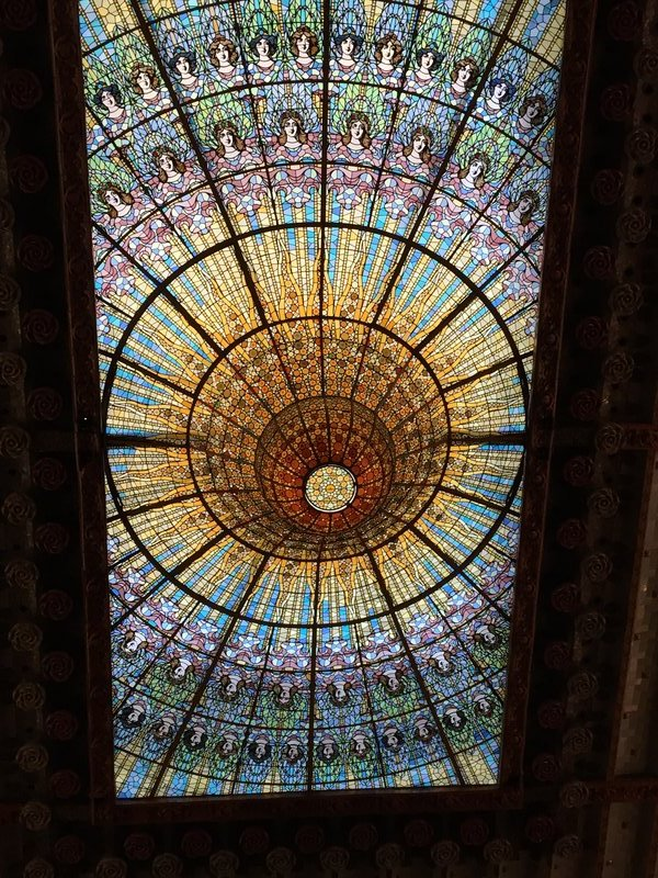 Stained glass cupola