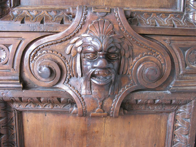 Detail on a wooden door in the Doge's Palace