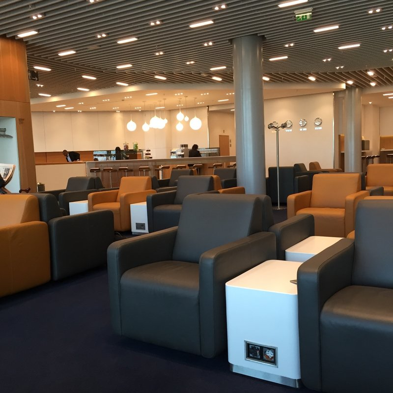 The Lufthansa Business Lounge at Heathrow