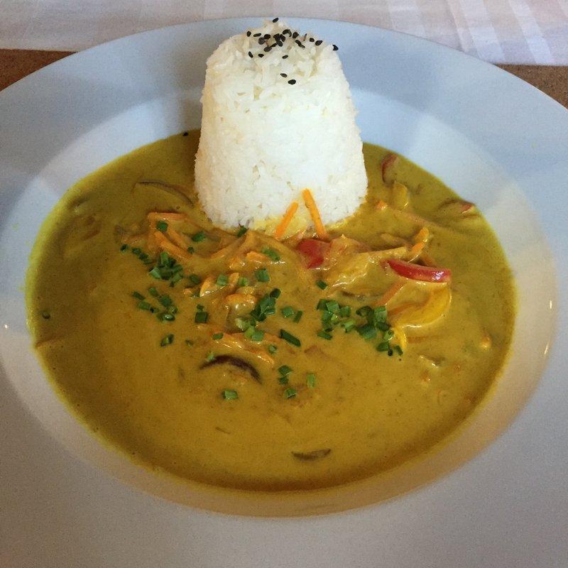 """LoVeg Thai coconut """"Curry"""" with jasmine rice"""