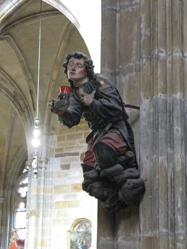 St Vitus Cathedral carved figure