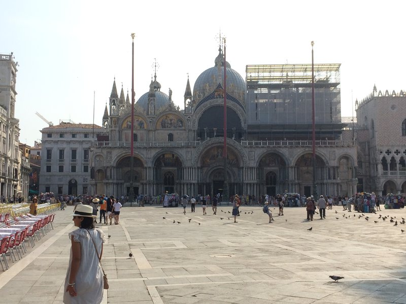 St Mark's Square with obligatory scaffolding