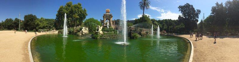 The Parc de la Ciutadella Cascada