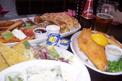 British pub food