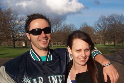 Trav and Nadine in Hyde Park