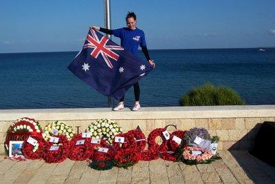 Nadine shows her Aussie pride