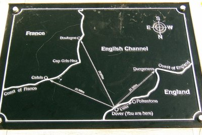 Map showing English Channel