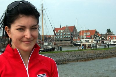 Me with Volendam in the distance