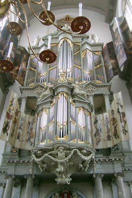 Pipe organ in the Westerkerk Tower