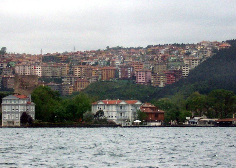 Stacked houses on hillside
