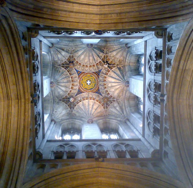 Ceiling inside Canterbury Cathedral