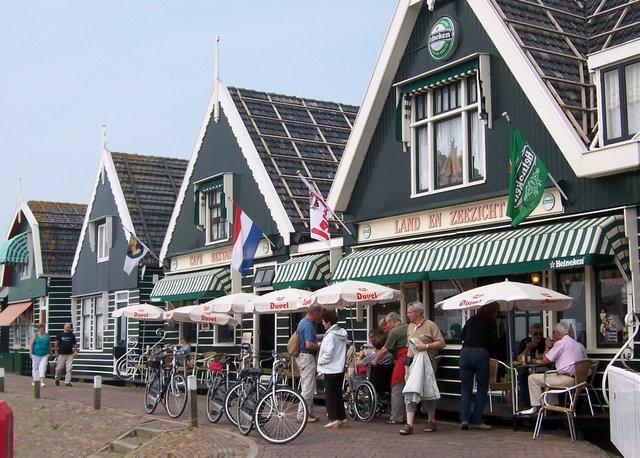 Wooden shops in Volendam