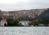 Stacked houses on hillside