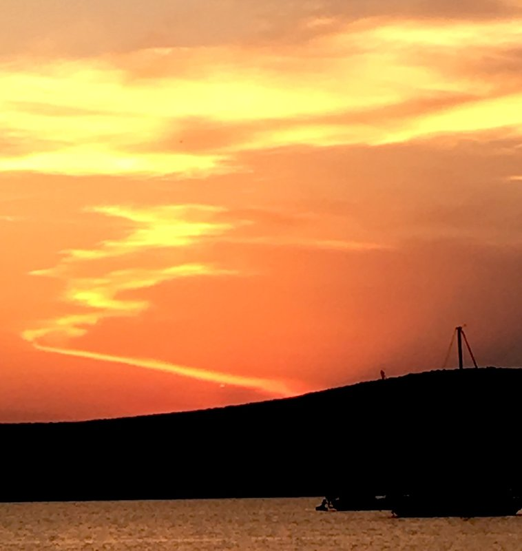 Paros sky on fire