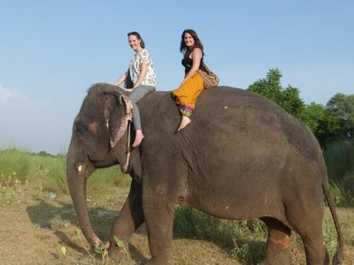 Elefantenreiten mit Natascha