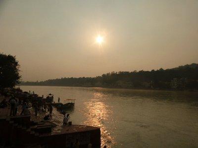Sunset am Ghat
