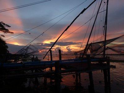 Chinesische Fischernetze, Fort Kochi