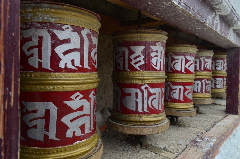Buddhistische Gebetsrollen
