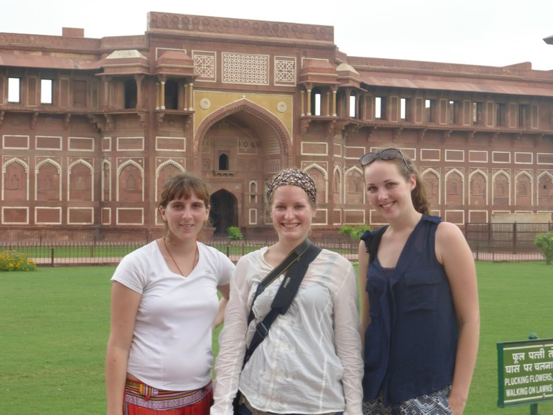 Agra Fort, mit Lea & Tanja