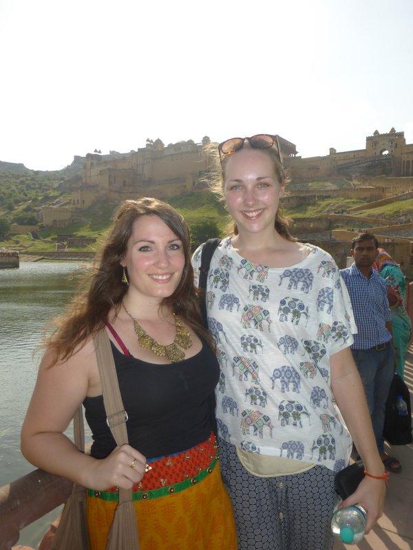 Natscha und ich am Amber Fort