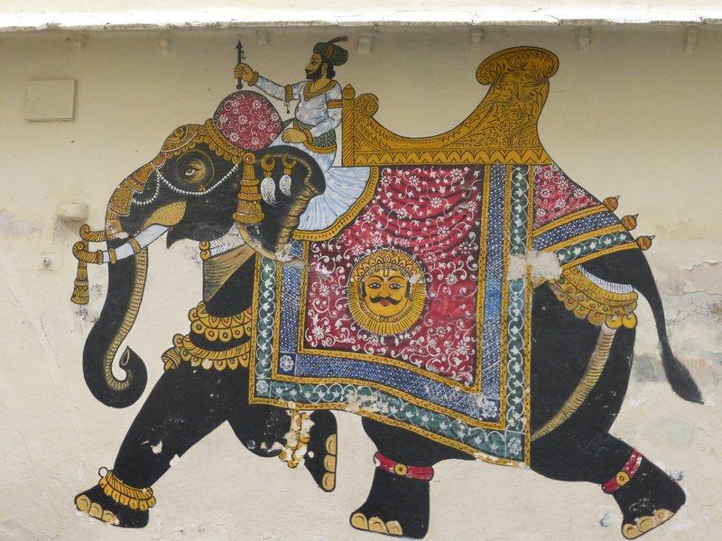 Hauswandbemalung Udaipur