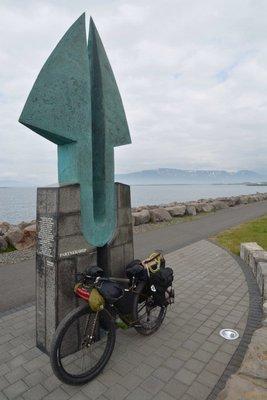 Bike lean, Reykjavik