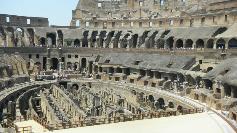 Second floor view of inside the Coloseum