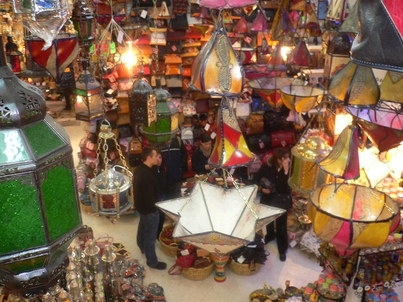 Browsing in a market shop in Sousse