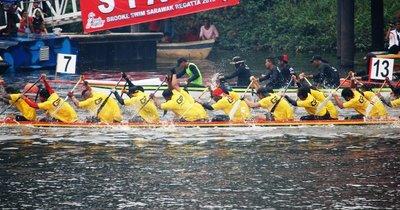 Dragon boat races Sarawak River