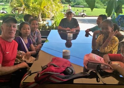 ABCs students at the Angkor golf resort