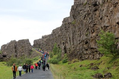 walking between the European and North American continental plates