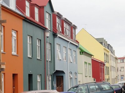 colourful apartments Reykjavik