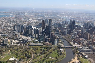 View of Melbourne from above!