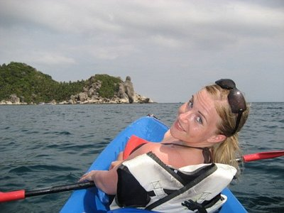 Kayaking around Koh Tao