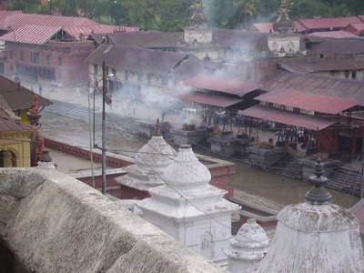Cremation smoke at Pashupatinath