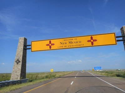 Crossing from Texas into New Mexico
