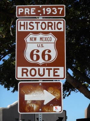 Iconic Route 66 sign, Santa Fe
