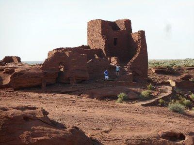 Pueblo adobe ruin c1100 AD at the Sunset Crater