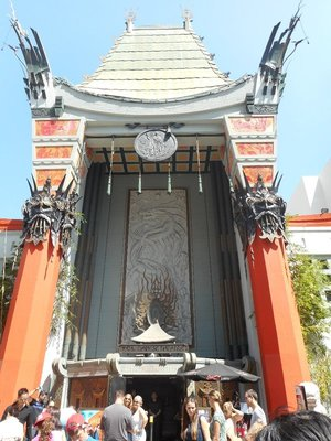 Chinese Theatre Hollywood, this is where most of the premier films are set