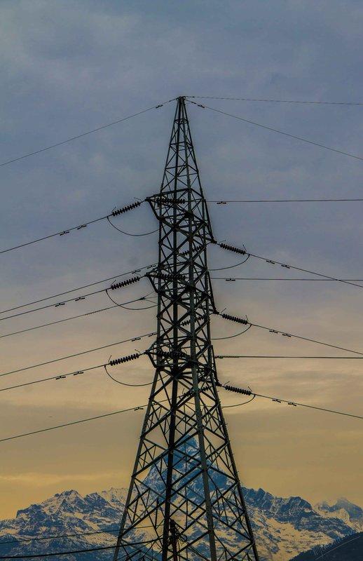 Mt. Machhapuchchhre & The Power Cables