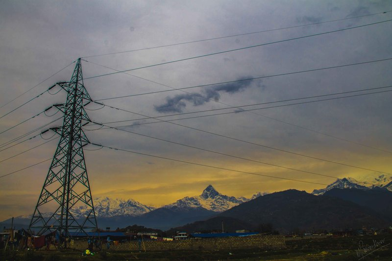Mt. Machhapuchchhre & The Power Cables