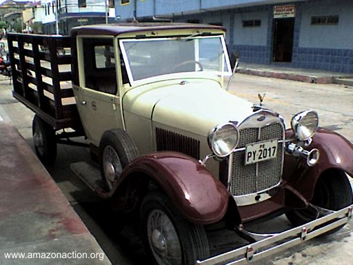Old car in Iquitos city